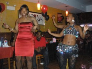 This picture is from one of the first private birthday parties I performed at in Queens at Clippers in March of 2010.